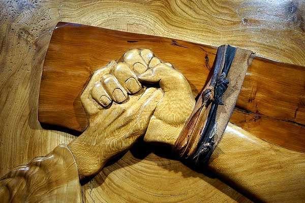 Jesus Holding hands